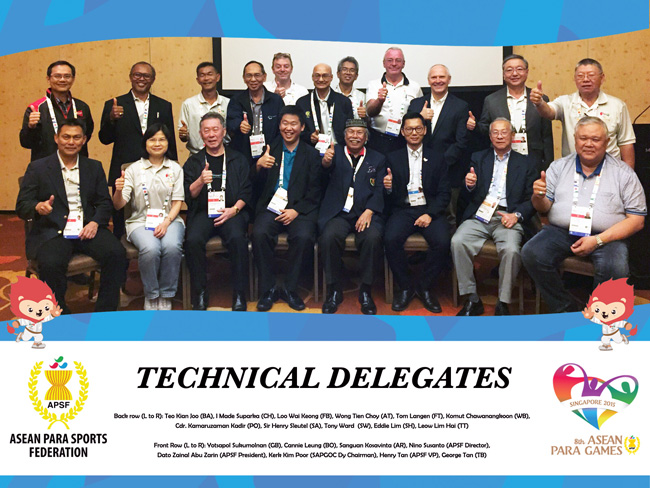 การประชุม Technical Delegates For 8th ASEAN PARA Games