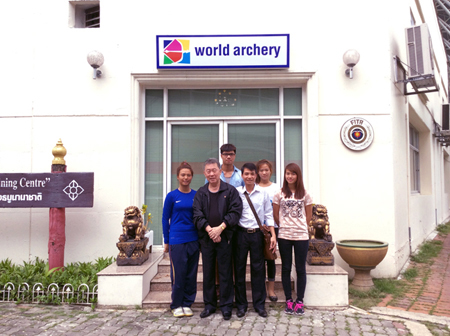 Hanoi Duong Archery Team training at BAC